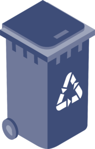 Icon of recycling cart.